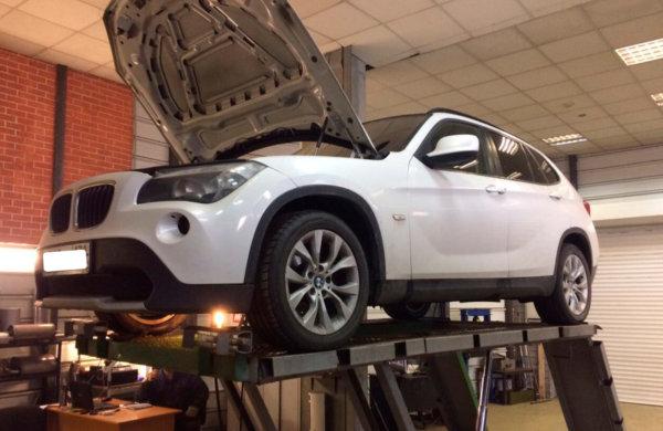 BMW X1-ремонт катализатора.