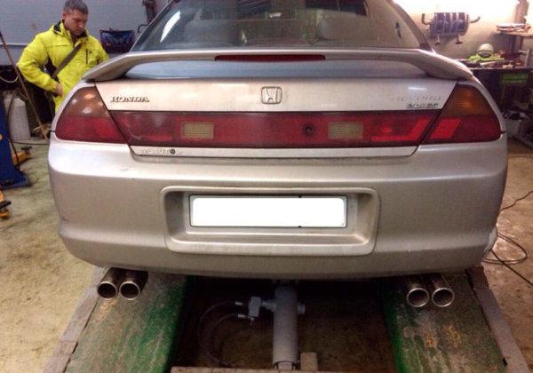 Honda Accord раздвоение выхлопа
