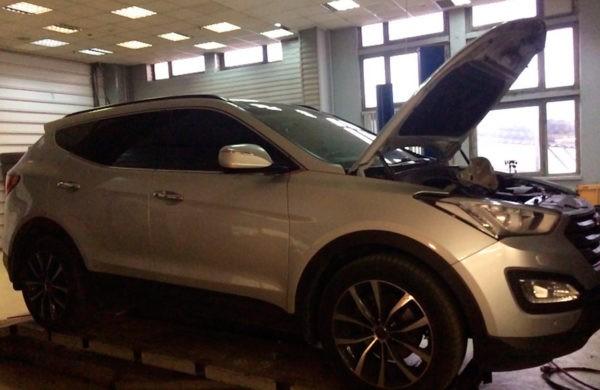 Hyundai Sana Fe ремонт катализатора