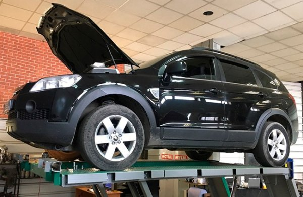 Chevrolet Captiva-замена катализатора на пламегаситель