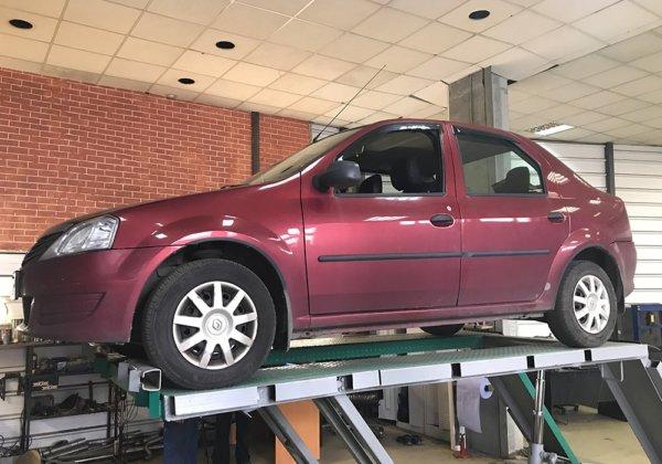 Renault Logan – замена резонатора