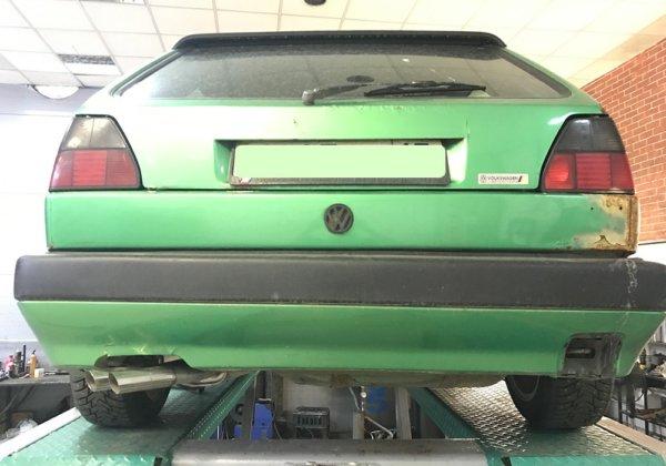 Volkswagen Golf 2 – ремонт выхлопной системы