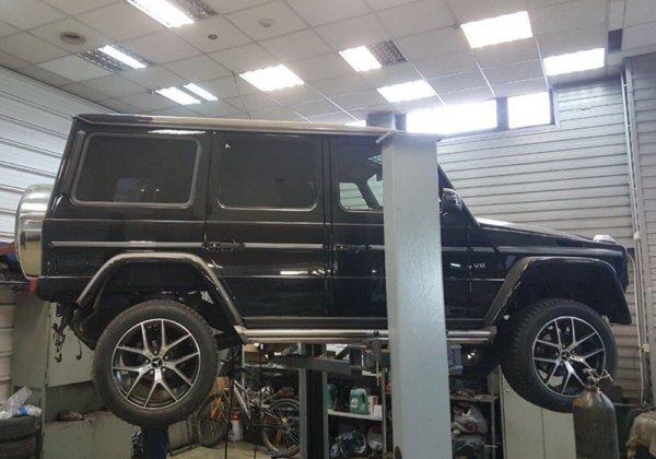 Mercedes-Benz G-класс - установка насадок