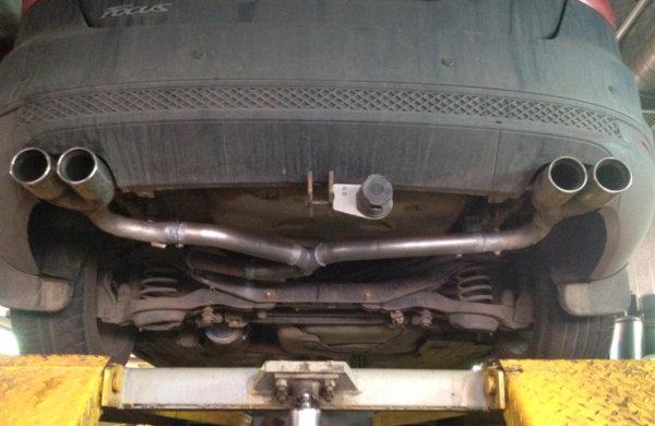 Раздвоение выхлопа Ford Focus 3