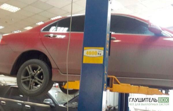 Honda Accord - замена катализатора на пламегаситель. Установка обманки