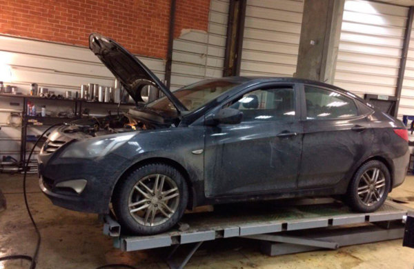 Hyundai Solaris ремонт катализатора.