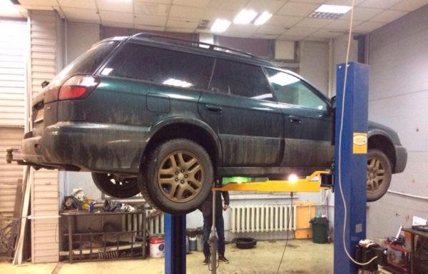 Subaru Outback - замена катализатора на пламегаситель