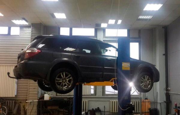 Subaru Outback - удаление катализатора, установка 2 – х пламегасителей