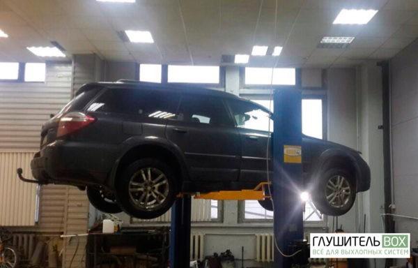 Subaru Outback- замена катализатора на пламегаситель. Установка обманки.