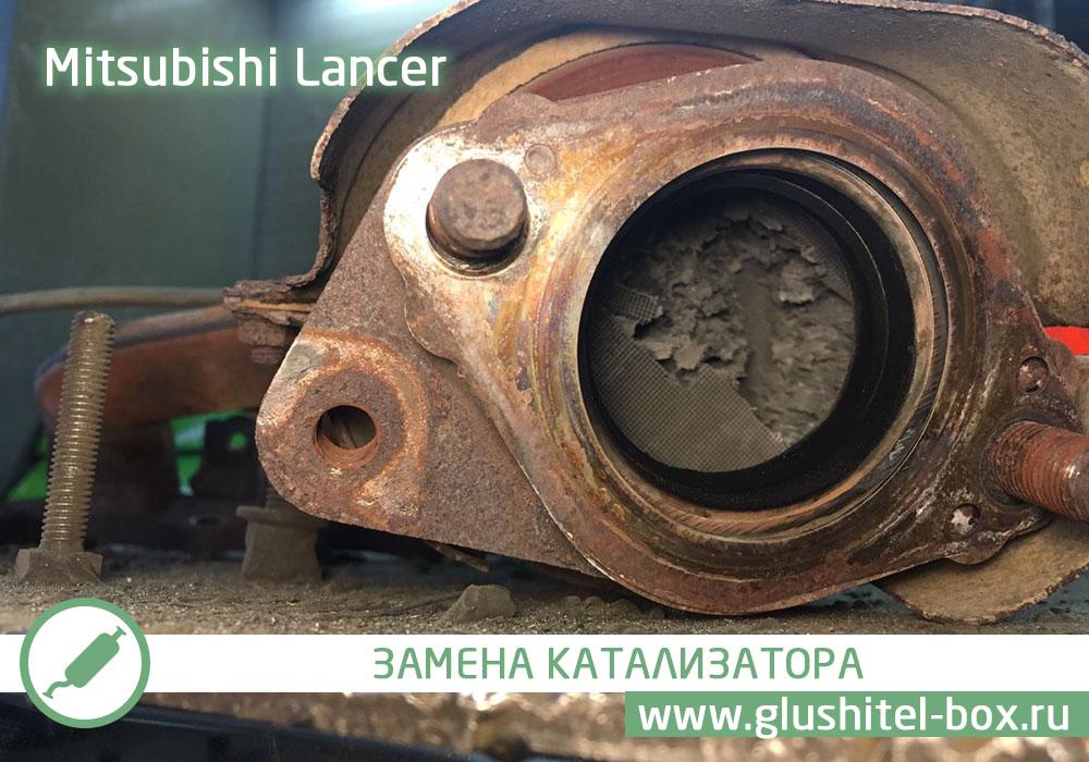 ремонт катализатора митсубиси лансер