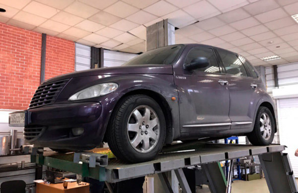 Chrysler PT Cruiser-замена гофры глушителя