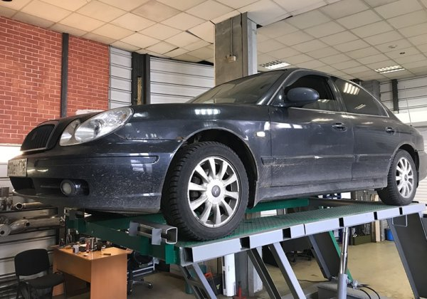 Hyundai Sonata – замена катализатора на пламегаситель