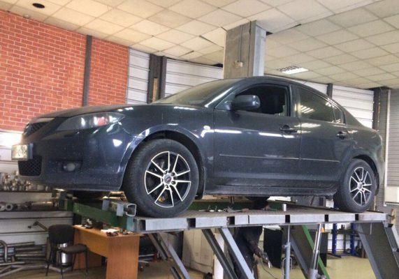 Mazda 3 – ремонт выхлопной системы
