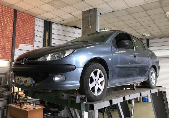 Peugeot 206 – ремонт выхлопной системы