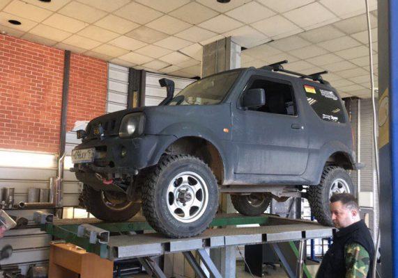 Suzuki Jimny— ремонт выхлопной системы