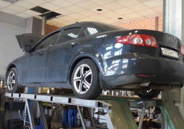 Mazda 6 – замена катализатора на пламегаситель