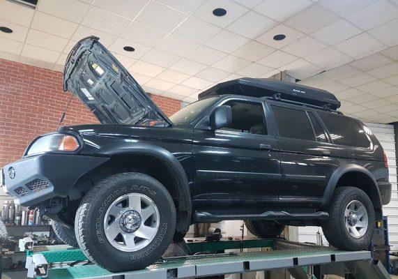 Mitsubishi Pajero - замена катализаторов на пламегаситель