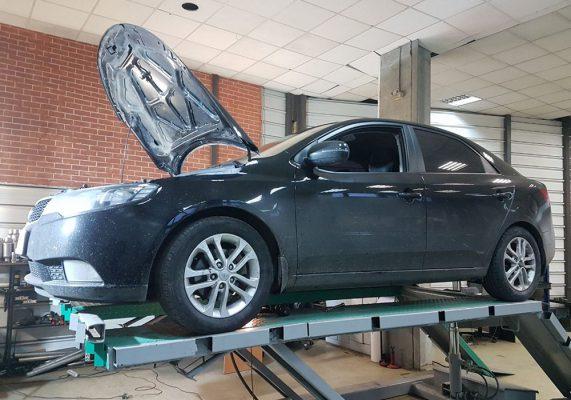 Kia Cerato - замена пламегасителя и чип-тюнинг