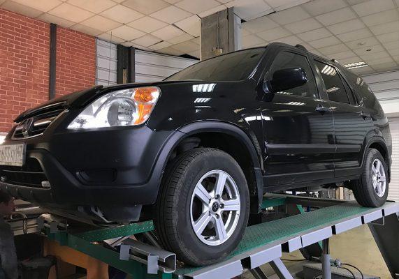 Honda CR-V — замена катализатора на пламегаситель