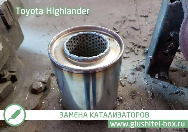 Toyota Highlander пламегаситель