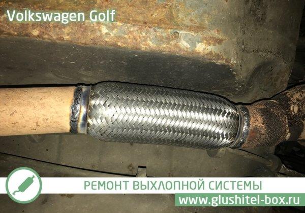 Volkswagen Golf 2 замена гофры глушителя