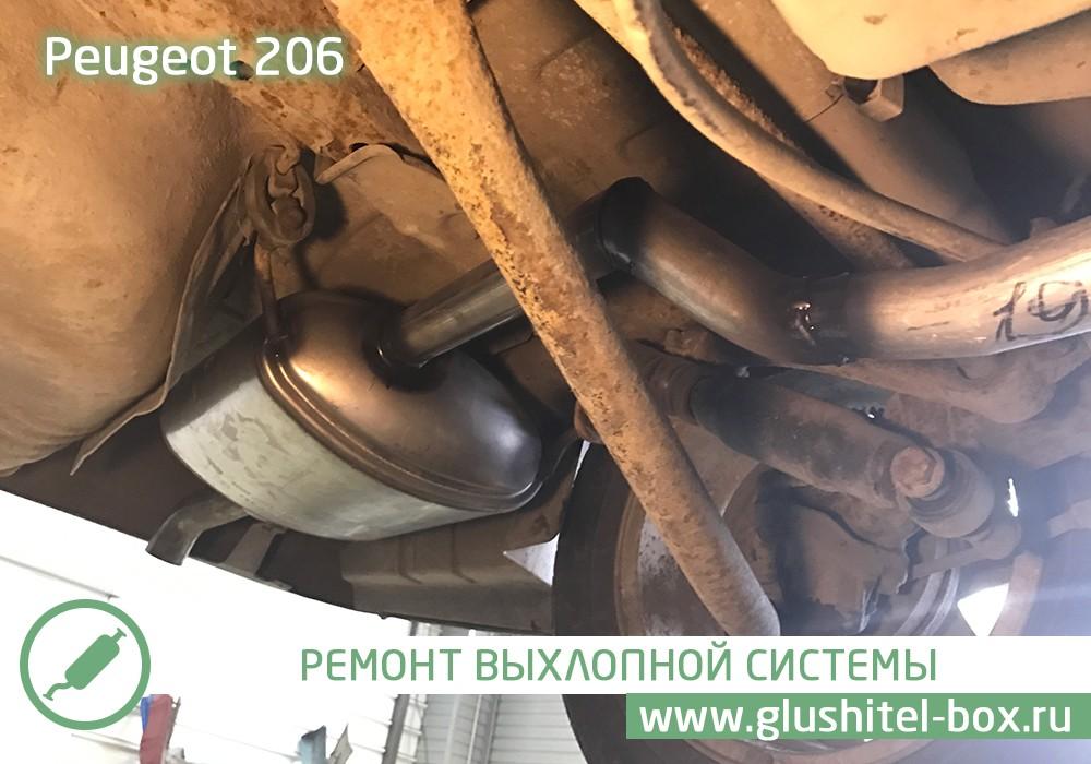Peugeot 206 замена глушителя