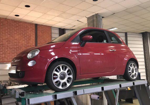Fiat 500 - замена гофры глушителя