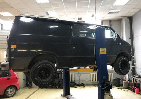 Dodge Ram – ремонт глушителя