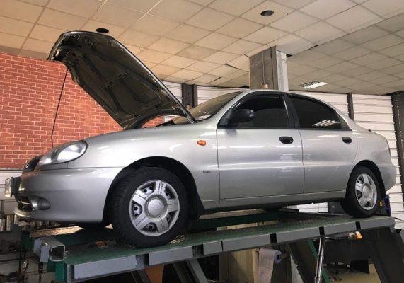 Chevrolet Lanos - замена катализатора на пламегаситель.