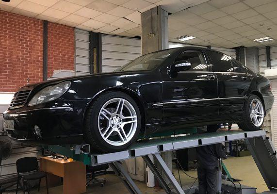 Mercedes-Benz S-klasse IV (W220) - удаление катализаторов