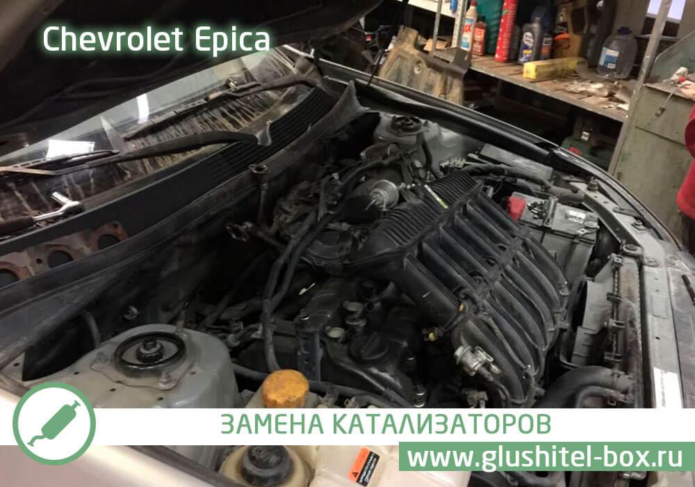 Chevrolet Epica замена катализаторов и перепрошивка на евро-2