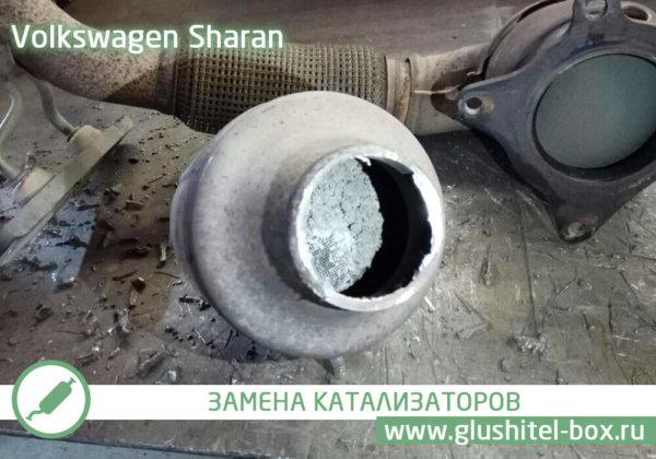 Volkswagen Sharan забитый катализатор